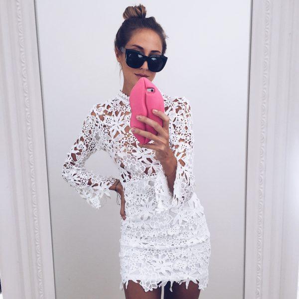 It's lace, it's white