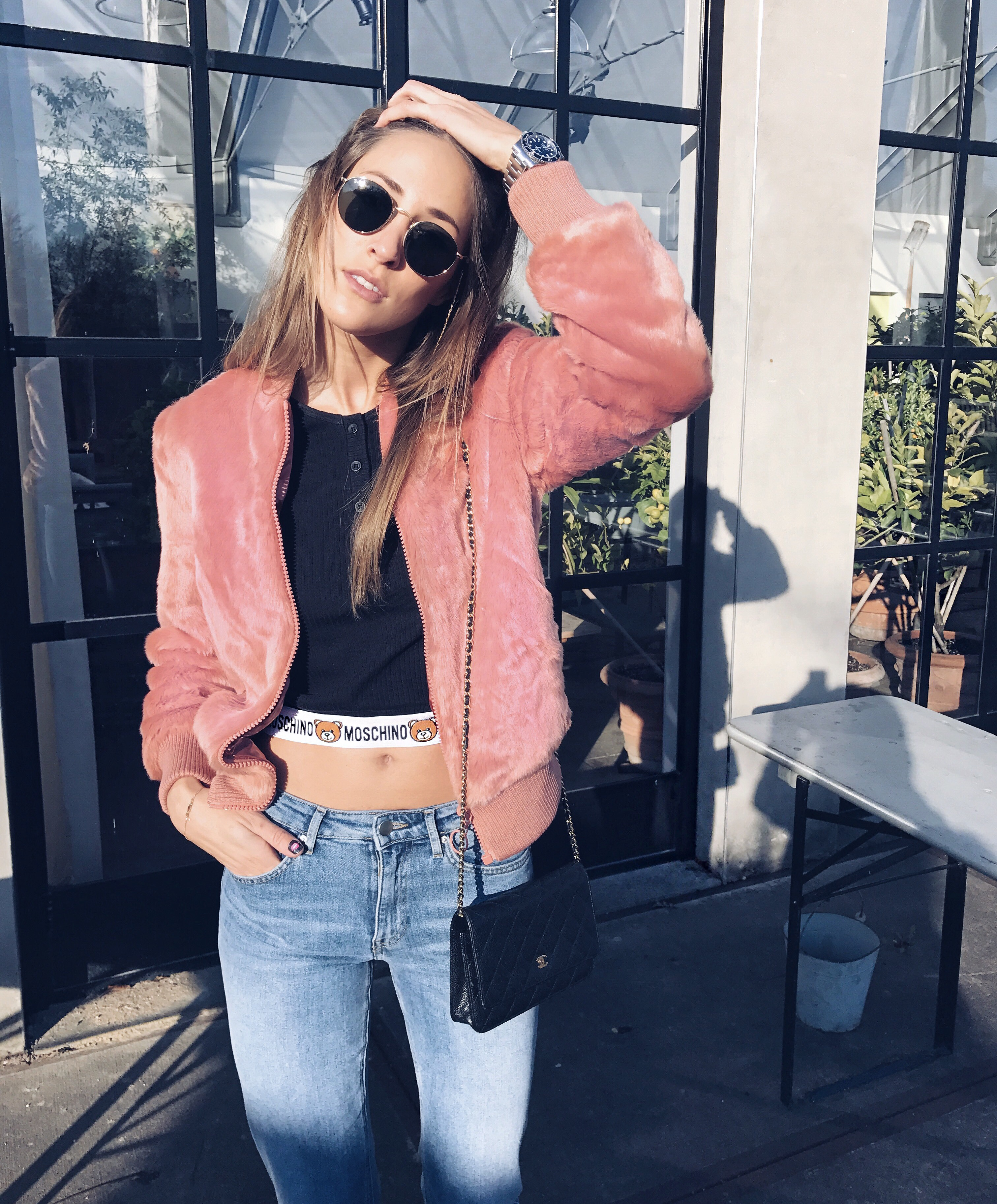 linda_tsetis_worlds_affair_moschino_pink_bomber_AsSeenOnMe